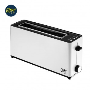 Toaster 900w long slot white design EDM
