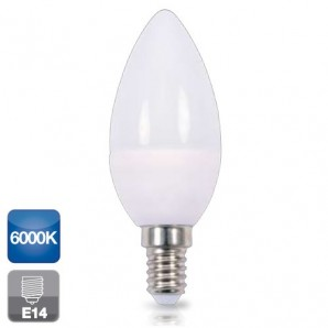 ampoule LED bougie E14 5W 6000K 470 du froid CGC 2002345