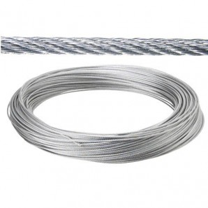 Steel cable - Galvanized cable 10 mm. (Roll 100 Meters) not for elevation