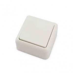 Conmutador superficie Blanco 60x60x30mm 10A 250V GSC 0201024