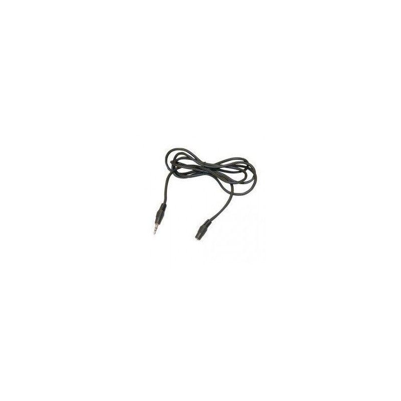 Conexión audio-estéreo jack macho-hembra 3.5mm