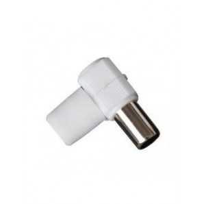 Conector TV acodado macho