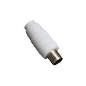 Conector TV recto hembra