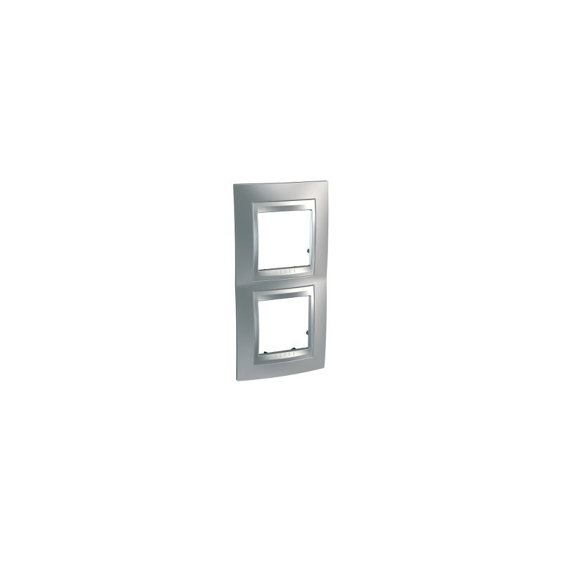 Frame Top 2 elements vertical Satin Chrome SCHNEIDER U66.004V.038