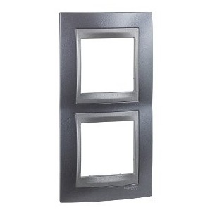 Frame Top 2 elements vertical Gray SCHNEIDER U66.004V.297