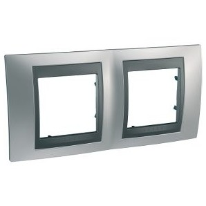 Frame Top 2 elements Satin Chrome SCHNEIDER U66.004.238