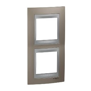 Frame Top 2 elements vertical Copper onix SCHNEIDER U66.004V.096
