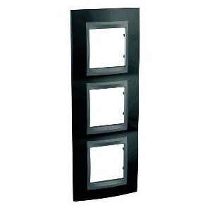 Framework Top 3 elements of vertical Black rhodium SCHNEIDER U66.006V.293