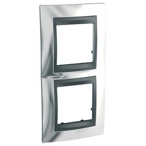Frame Top 2 elements vertical Chrome SCHNEIDER U66.004V.210