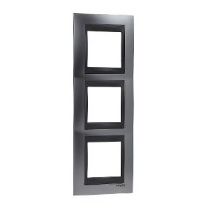 Framework Top 3 elements vertical Satin Chrome SCHNEIDER U66.006V.238