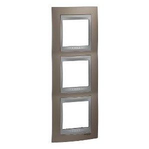 Framework Top 3 elements vertical Copper onix SCHNEIDER U66.006V.096