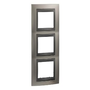 Framework Top 3 elements vertical Nickel Matt SCHNEIDER U66.006V.239