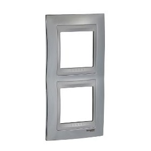 Frame Top 2 elements vertical Chrome SCHNEIDER U66.004V.010