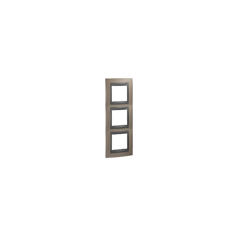 Framework Top 3 elements vertical Copper onix SCHNEIDER U66.006V.296