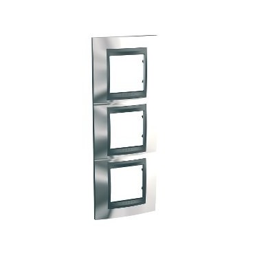 Framework Top 3 elements vertical Chrome SCHNEIDER U66.006V.210