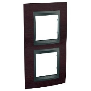 Frame Top 2 elements vertical Wenge SCHNEIDER U66.004V.2M3