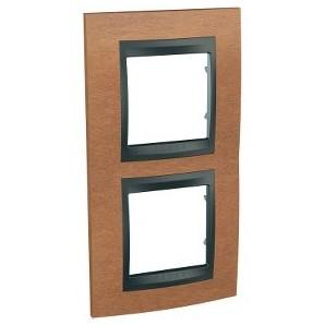 Frame Top 2 elements vertical Cherry SCHNEIDER U66.004V.2M2