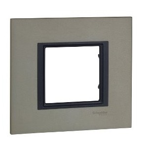 Comprar Frame Single Class 1 element Aluminium Apple SCHNEIDER MGU68.002.7A2 online