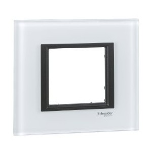 Frame Single Class 1 element White Crystal SCHNEIDER MGU68.002.7C2