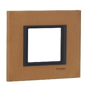 Frame Single Class 1 element, Leather-Sahara SCHNEIDER MGU68.002.7P1