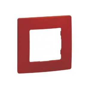 Plate 1 red element LEGRAND NILOÉ 665021