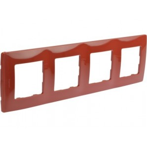 Legrand Niloe - Plate 4 items red LEGRAND NILOÉ 665024