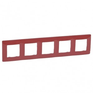 Legrand Niloe - Plate 5 elements red LEGRAND NILOÉ 665025