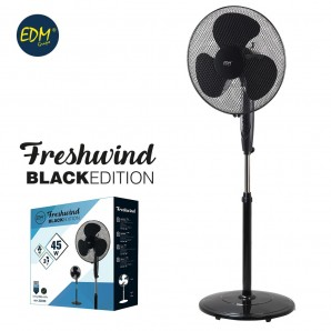 Stand fan black 45w black series edm EDM 33945