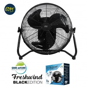 Fan industrial oscillating ø45cm 70w black series EDM 33948