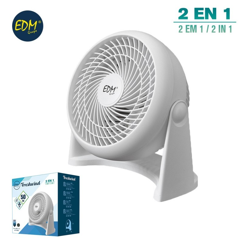 Fan 2-in-1 50w white 27,7x26,5x15,5cm edm EDM 33953