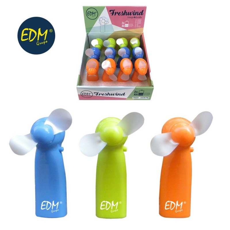 Fan battery operated funny colors edm EDM 33978