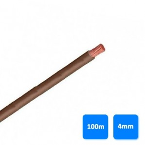 Cable-free electrical halogen - Roll of cable halogen-free 4mm brown (100 meters) H07Z1-K AS 750V