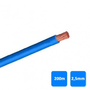 Electric Cable - Roll of cable unipolar 2.5 mm blue (200 meters) H07V-K 750V