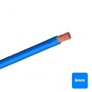 Roll of cable halogen-free 6mm blue BY the METRE H07Z1-K AS 750V
