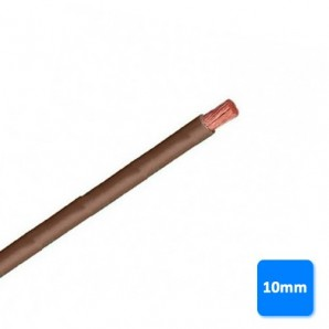 Electrical Cable by the metre - Roll of cable-free of halogen-10mm brown BY METERS H07Z1-K AS 750V