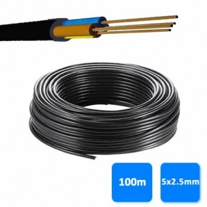 Roll of hose 5x2.5mm black 0.6/1 kV (100 meters) RV-K