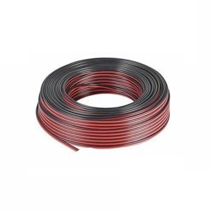 Rollo de cable paralelo AUDIO rojo y negro 2x1mm 100 metros GSC 3902905