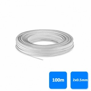 Rollo de cable paralelo 2x0.5mm blanco GSC 3902938