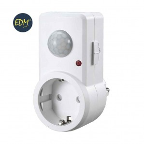 Presence detectors - Plug Base with motion detector 120 ° 1200W EDM 03225