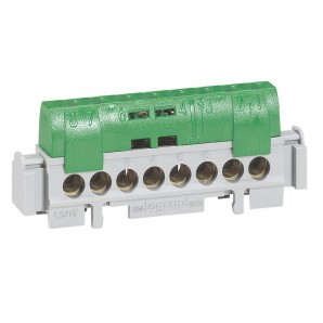 Accessories for electric boxes - Terminal block distributor 1-pole, 63-100A 8 outputs Legrand 004832