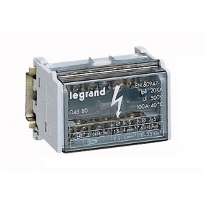 Accessories for electric boxes - Dealer mudular monoblock 2P 100A, 4 modules Legrand 4880