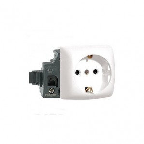 Legrand Oteo - Base de enchufe 2P+TT blanco Legrand Oteo 086101