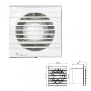 Bathroom Extractor fan EDM-80 N Soler & Palau