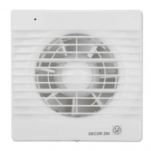 Bathroom Extractor fan 120mm square DECOR100C Soler & Palau