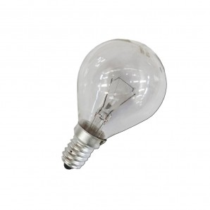 Incandescent light bulbs 240V - Clear bulb 40W E27 esferica (industrial use only)