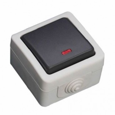 Switch with waterproof luminaire IP44 GSC 1200867