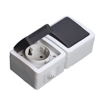 Plug base and waterproof switch IP44 GSC 1200255