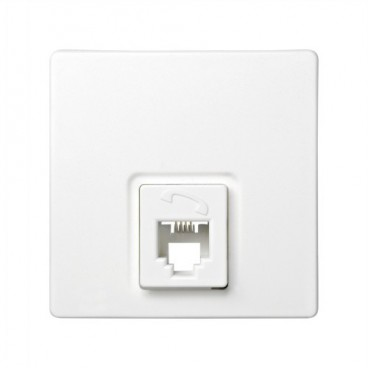 RJ11 WHITE telephone jack Simon 73 Loft 73480-60