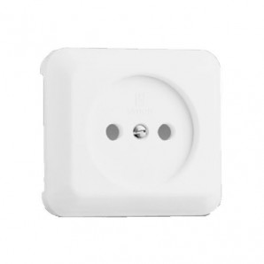 Mecanismos Simon 73 - Tapa base de enchufe 2P BLANCO Simon 73 73040-30