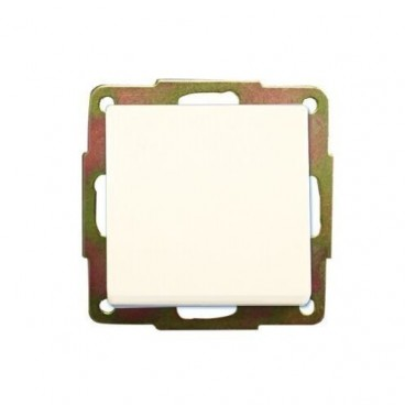 GSC White Recessed Unipolar Switch